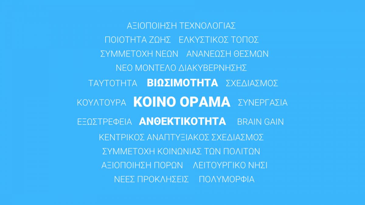 Η πρώτη σκιαγράφηση του οράματος εκπροσώπων της Κοινωνίας των Πολιτών για τη Λέσβο του 2030